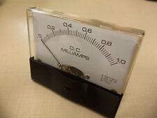 """Dc. Panel Meter 0 - 1 MilliAmp. 4"""" X 3 1/2"""" New For Cb Radio Ham Amp Amplifier"""