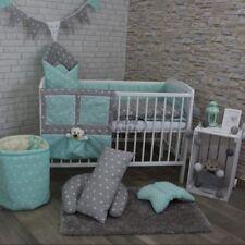 2/3/5 pezzi Set di biancheria da letto bambino 120x90 o 135x100cm-antiallergico-Stelle Grigio/Verde