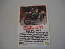 advertising Pubblicità 1978 MOTO DUCATI 350 GTV