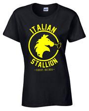 ITALIAN STALLION WOMENS T SHIRT ROCKY BALBOA BOXING GYM TRAINING TOP FANCY DRESS