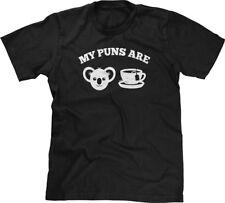 My Puns Are Koala-Tea Funny Nerd Humor Geek Joke Meme Word Play Mens Tee