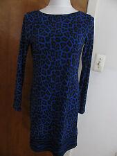 Michael Kors women's printed dark azurite boat neckjersey shift dress S M L NWT