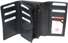 Genuine Cowhide Leather Ladies Medium RFID 14 Card & 1 ID Wallet #7507R CAN