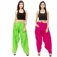 Stylesindia Women's cotton Patiala Pant Free Size Combo Pack of 2