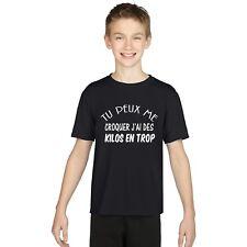T-shirt ENFANT GARÇON TU PEUX ME CROQUER J'AI DES KILOS EN TROP
