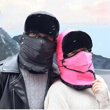 Winter Trapper Aviator Trooper Earflap Warm Ski Hat Cap With Mask For Men Women