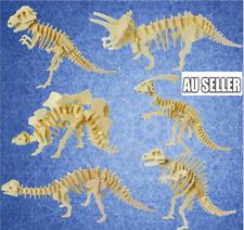 6Pcs 3D Wooden Puzzle Simulation Animal Fun Gift Dinosaur Assembly DIY Model
