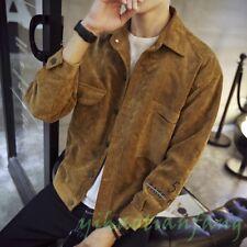 New Mens denim jacket Jean Coat Jacket Slim Fit Vintage Fashion Suede Corduroy Y