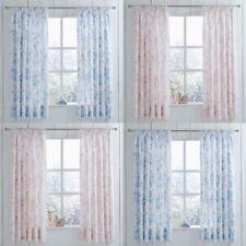Charlotte Thomas Amelie Floral Toile Pencil Pleat Lined Curtains & Tie Backs