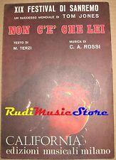 C.A. ROSSI non c'è che lei TOM JONES RARO SPARTITO SINGOLO no cd lp dvd mc
