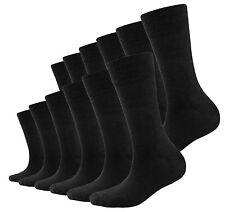 9 Paar Herren Baumwoll-Socken Weichbund Strümpfe OHNE GUMMI schwarz, bis Gr. 50