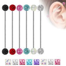 Stainless Steel Ear Industrial Barbell Scaffold Cartilage Stud 14G Body Piercing