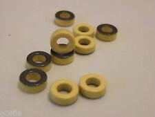 "5x T44-6 Micrometal Torroid Yellow 0.44"" Dia Ham Radio"