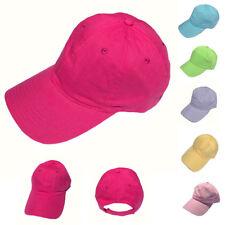 Mujer Algodón Peinado Gorras de Béisbol 6 Paneles bajo Corona Verano Colores