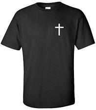 Christian Cross T-Shirt Jesus God Born Again Bible Faith Church Shirt S-2XL