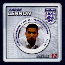 ESSO 2010 ENGLAND WORLD CUP TOKEN MEDALS-#12-TOTTENHAM HOTSPUR-AARON LENNON