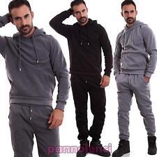 Tuta uomo pantalone felpa cappuccio sport zip elastico fitness nuova FM1062-LC