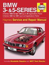 Haynes Service & Repair Manual BMW 3 & 5 Series E28 E30 E34 1981-1991 WORKSHOP