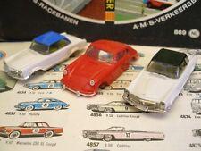 1960s Foreign Faller 230SL Bodies & Red Porsche 911 NOS