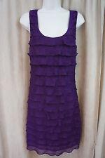 Studio M Dress Sz XS Purple Sleeveless Tiered Business Cocktail Casual Dress