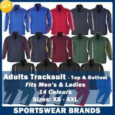 Adults Flash Tracksuit Jacket Pants Bottoms Sports Club Team Track Mens Ladies
