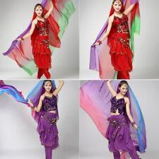 Belly Dance Costume Gradient Color imitated Silk Shawl Veil 220*120cm Scarfs US