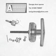 Birtley Garage door spares Easy Fix T bar lock handle 4 hole fixing