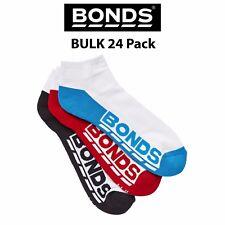 Mens Bonds Low Cut Socks Sports Active Invisi Grip 24 Pack Bulk Running S8220N