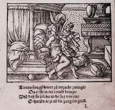 Virgil Solis Theseus fornicazione Ovidio Chalkidiki legno sezione 1563
