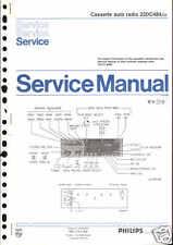 Philips original service manual pour car 22 DC 484