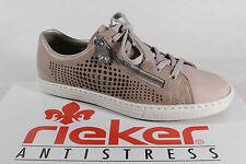 Rieker Mujer Zapatos de Cordones Zapatos Zapatillas Piel Sintética Beige/Rosa