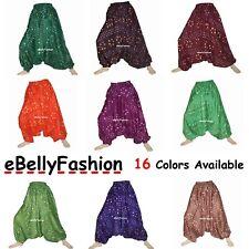 Cotton Tie & Dye Aladdin Afghani Gypsy Belly Dance Trousers Aladdin Pantaloons