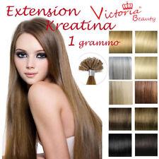 REMY HAIR EXTENSION capelli umani CHERATINA 50 CIOCCHE 1 grammo 53 cm ultrasuon