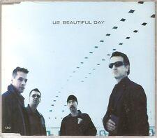 U2 Beautiful Day UK CD SINGLE with 2 live tracks