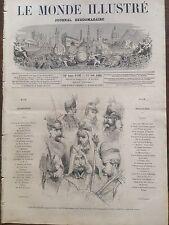 LE MONDE ILLUSTRE 1866 N 487 DIFFERENTS TYPES DE L'ARMEE AUTRICHIENNE