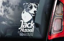 Jack Russell à Bord - vitre voiture autocollant - CHIEN TERRIER Enseigne - V02