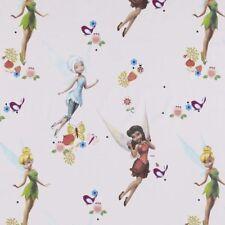 Disney Tinkerbell and Friends Fées Fleurs 100% Coton Rideau Doublure Tissu