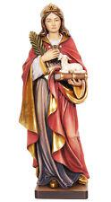 Statua Santa Agnese con Agnello- Legno- Woodcarving St. Agnes with Lamb Statue