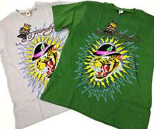 Ed Hardy NEW! T Shirt Top Cat Vintage Tattoo Green Gray Men's Sz: M L XL 2X