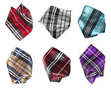 Vesuvio Napoli PLAID Striped Design Colors Men's Hankerchief Pocket Square Hanky
