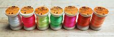 Datam Glo-Brite, Fluorescent Multi-Yarn, Re-spooled 8 Yard Spool, Various Colors