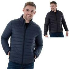 Mens Threadbare Padded Funnel Neck Zip-Up Jacket Coat Sizes S-XXL (Nelson)