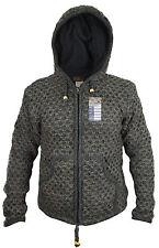Charbon tricot épais laine doublure polaire HIPPIE veste FESTIVAL chaude