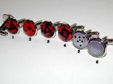 Naruto Sharingan cufflinks jewelry Naruto Sharingan eyes red eyes Kekkei Genkai
