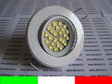 10x FARETTO LED INCASSO 120° GU10 BIANCO 3w 220v SUPPORTO BIANCO