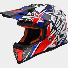 LS2 Fast Mini Strong Youth Kids MX Motocross ATV Riding Helmet - Blue / Red