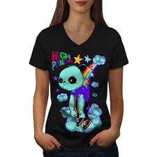 High Evil Panda China Women V-Neck T-shirt NEW | Wellcoda