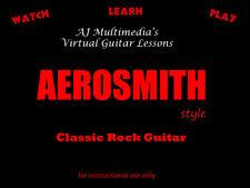 Custom Guitar Lessons, Learn AEROSMITH style guitar DVD Video