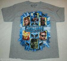 Jungen T-Shirt Avengers Initiative grauer Hulk Captain America M 8 L 10-12 XL 14-16