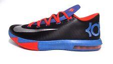 "NEW Youth Nike KD VI ""Away"" GS 599477-002 Black Blue Orange DS 6 OKC Thunder"